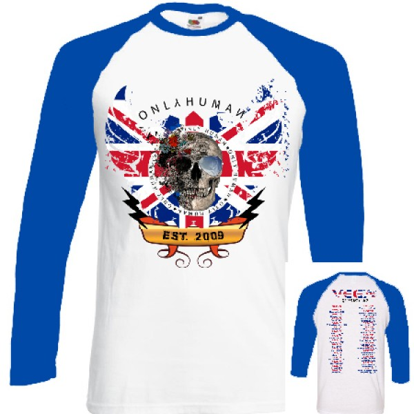 Only Human Tour Baseball shirt  - White/Blue